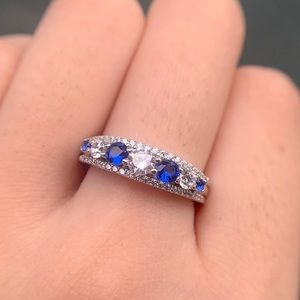 Jewelry - 925 silver wedding band bridal Engagement ring